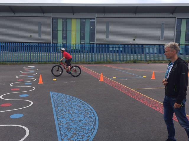 Olympic Team GB cyclist Phil Bateman visits Parklands