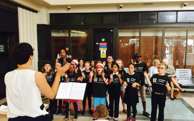 Choir wow the crowds at Leeds station