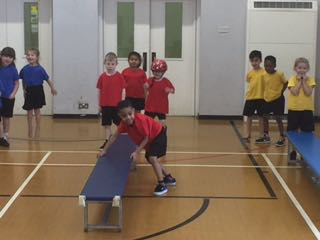 Y1 enjoy PE from Mr Stoutt from John Smeaton Academy