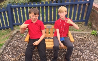 Y6's new benches