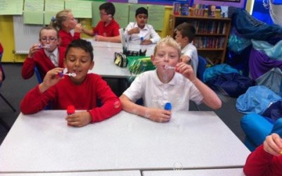 Is blowing bubbles learning?