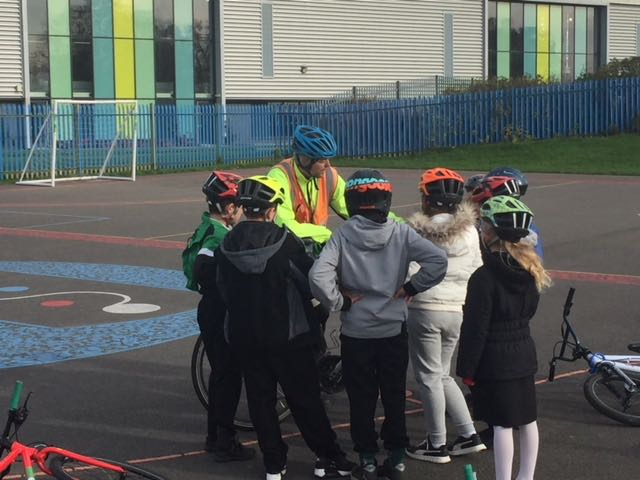 Y5 Bikeability training session