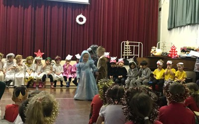 Reception's Christmas performance of 'Happy Birthday Jesus'