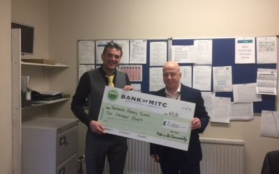 £2000 cheque from Moto Services