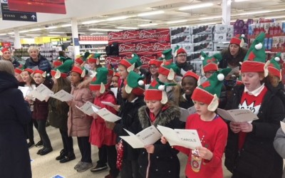Singing at Tesco