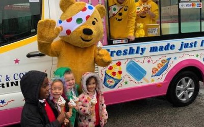 Pudsey Bear and the Ice Cream Van