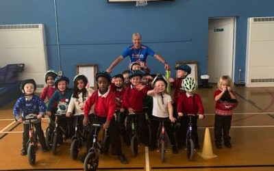 Olympic Cyclist Phil Bateman visits again!