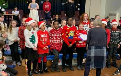 Y5/6 perform 'Home For Xmas'