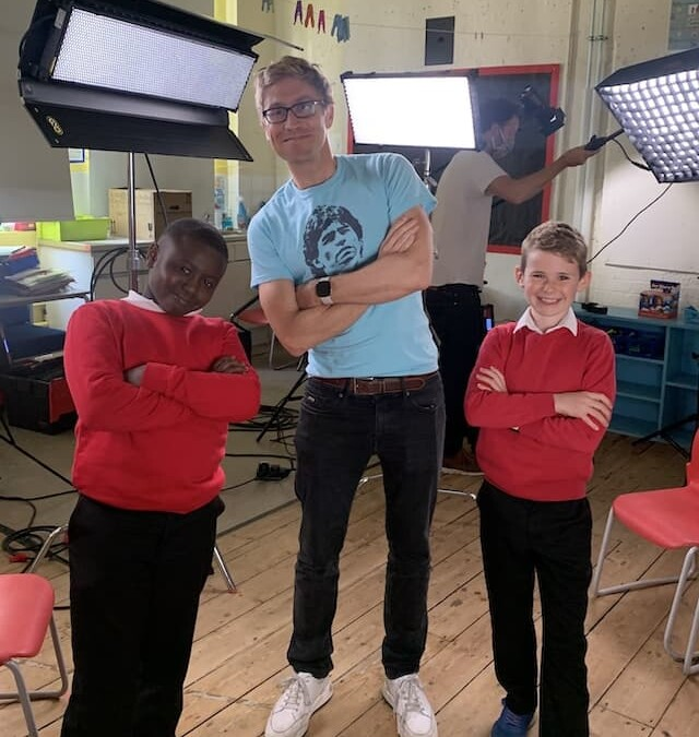 Filming with Russell Howard for the Playground Politics